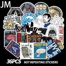 Sammeln Seltenes Science Fiction Star Trek Vinyl Decal Car Laptop Sticker Starfleet Command Star Trek Sammeln Seltenes