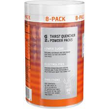 g2 lower sugar gatorade powder packets