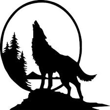 Howl At The Moon Wolf Large Vinyl Car Decal Sticker Eur 3 09 Picclick Fr