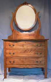 vanity dresser with oval mirror