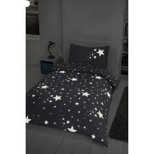 glow in the dark stars single duvet set