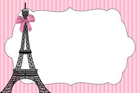 Kit Imprimible Paris Gratis Invitaciones De Cumpleanos Gratis