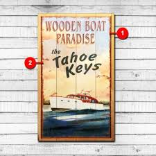vintage lake and cabin sign collection