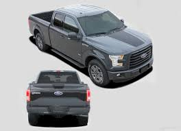 2015 2018 Ford F 150 Decals Route Hood Tailgate Blackout Vinyl Graphics Auto Motor Stripes Decals Vinyl Graphics And 3m Striping Kits