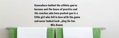 Design With Vinyl Somewhere Behind The Athlete Mia Hamm Wall Decal Wayfair