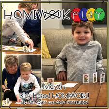 Homework PLAY Activities for March by Kim Adsit and Adam Peterson by Kim  Adsit