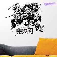 1933494572 Demon Slayer Wall Decal Kimetsu No Yaiba Vinyl Wall Stickers Decal Decor Home Decoration Anime Car Sticker Home Garden Home Decor