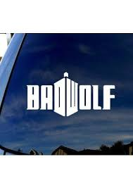 Bad Wolf Doctor Who Car Truck Laptop Sticker Decal 5 Diameter Amazon Everything Else Doctor Who Bad Wolf Whovian