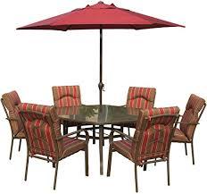 amalfi rectangular 6 seater dining set