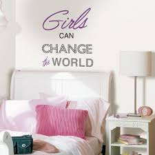Wall Pops Purple Girls Can Change The World Wall Quote Dwpq2436 The Home Depot