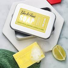 gin and tonic moisturising gift soap by