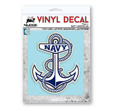 Us Naval Academy Anchor Logo Car Decal Nudge Printing