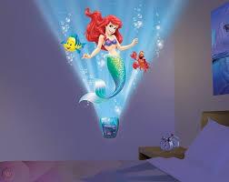 Little Mermaid Night Light Sound Kid Room Decor Wall Image Girl Ariel Mural 3d 1914444473