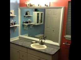 diy custom bathroom mirror frame with