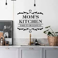 Mom S Kitchen Vinyl Wall Sticker Art Decoration Sign Home Welcome Door Family Wall Decal Kitchen Decor Poster Zx580 Wall Stickers Aliexpress