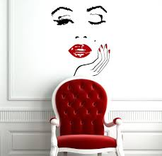 Wall Decals Lady Face Hand Manicure Barbers Hairdresser Hairstyle Interior Beauty Salon Any Room Vinyl Decal Sticker Home Decor Fast Shipping L171 Amazon Com