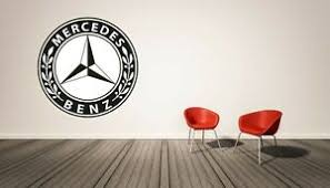 Mercedes Benz Logo Wall Decal Sticker Decorative Lounge Bedroom Vinyl Exotic Car Ebay