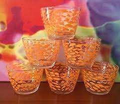 set of six bjudning glass bowls