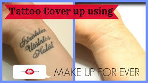 tattoo cover up using make up for ever