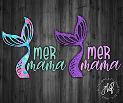 Mom Decal For Car 3 Inches Mer Mama Mermaid Decal Cup Tumbler Or Laptop Skins Decals
