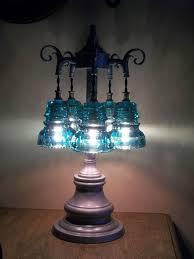 telegraph glass insulator table lamp