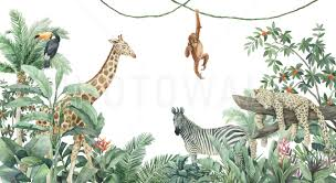 Jungle Friends Popular Wall Mural Photowall