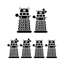 Dalek Robot Exterminate Family Vinyl Sticker Car Decal