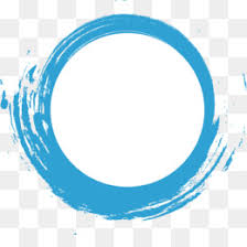 png and blue circle frame transpa