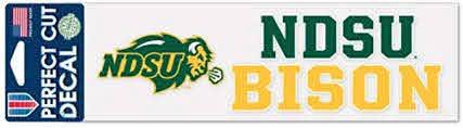 Amazon Com Wincraft Ncaa North Dakota State Ndsu Bison 3 X 10 Inch Perfect Cut Decal Sports Outdoors