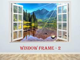 3d Window Mountains Wall Decor Vinyl Poster Nature 3d Window Etsy Mountain Wall Decor Wall Vinyl Decor Vinyl Poster