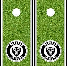 Cornhole Bag Toss Sporting Goods Single Oakland Raiders Cornhole Wrap Skin Decal Vinyl Nfl Game Board Logo Dt65