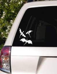 3 Dragons Flying Car Window Decal Etsy Car Window Decals Window Decals Car Window