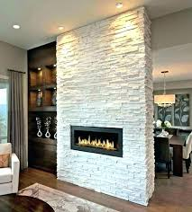 stone gas fireplace ventless with