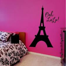 Eiffel Tower Wall Decal Paris Decorations For Bedrooms Vinyl Written