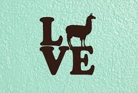 Llama Love Decal Llama Car Decal Llama Decal Llama Sticker Etsy