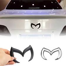 Chrome Metal Black Red Silver Gold For Mazda M Bat Car Stickers Decoration Metal Car Tail Hood Decals Emblems For Mazda 6 3 Hood Decal For Mazda 6car Hood Decals Aliexpress