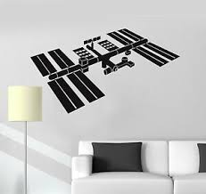 Vinyl Wall Decal Space Station Astronaut Kids Room Decoration Stickers Ig4891 Ebay
