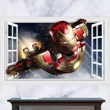 Ironman Wall Decals Wall Stickers Wall Decals Superhero Room Decal Wall Art