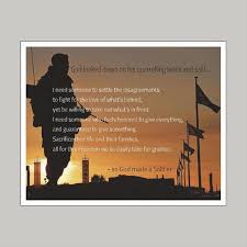 God Made A Soldier Art Print Wall Decor Stickers