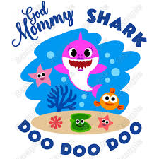 Baby Shark God Mommy T Shirt Iron On Transfer Decal 1