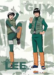Naruto Shippuden - Rock Lee And Might Guy Wall Scroll - Stella's Belle