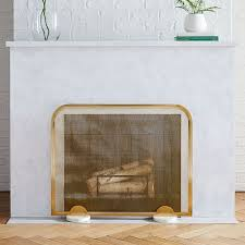 deco fireplace screens
