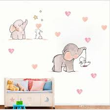 Hot Selling Elephant Rabbit Wall Stickers Self Adhesive European And American Creative Children Cartoon Home Decoration Stickers Peelable Wall Decals Peelable Wall Stickers From Cn Home 29 15 Dhgate Com