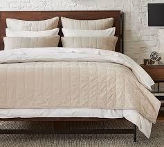 davenport cotton quilt shams taupe