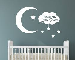 Dream Big Little Prince With Moon And Stars Removable Vinyl Wall Decal Word Factory Design