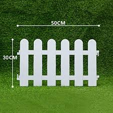 Ieve 4 Pcs White Plastic Fence Christmas Xmas Tree Wedding Party Decoration Miniature Home Garden Border Grass Lawn Edge Fence One Pack Is 200cm In Total Decorative Fences
