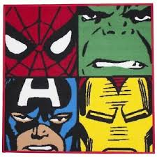 Marvel Comics Defenders Rug Kids Bedroom Floor Rug Non Slip Backing New 5055285344191 Ebay