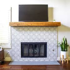 modern fireplace makeover made with happy