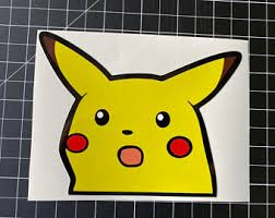 Pikachu Car Decal Etsy
