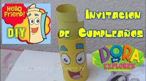 Invitacion De Cumpleanos De Mapa Dora La Exploradora Diy Tutorial